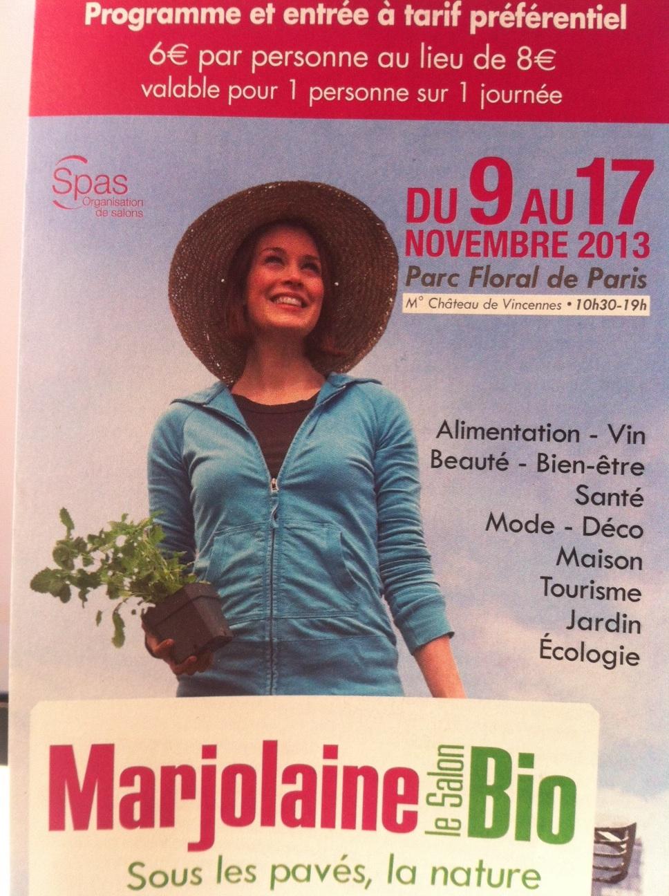 Le salon bio marjolaine du 9 au 17 novembre for Salon du bio